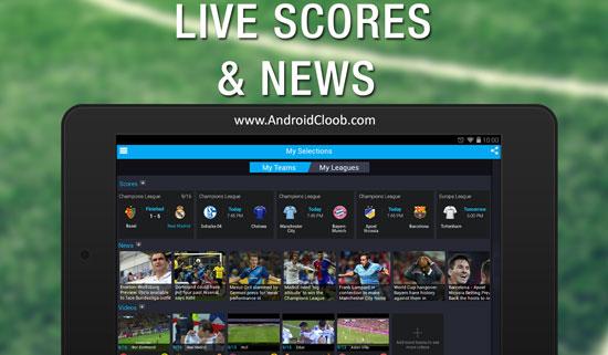 365Scores Live دانلود 365Scores: Sports Scores Live v4.8.9 نتایج زنده فوتبال اندروید