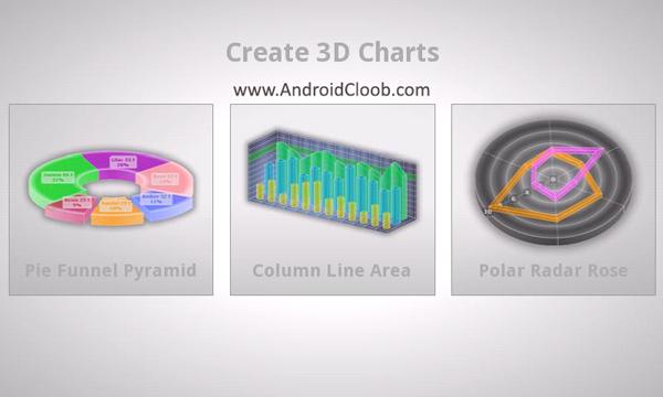 3D Charts Pro 1 دانلود 3D Charts Pro v5.0 برنامه رسم نمودار 3 بعدی اندروید