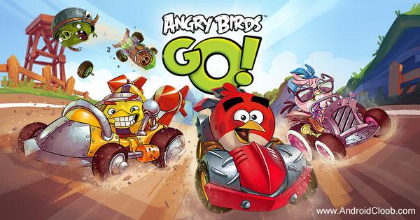 Angry Birds Go دانلود Angry Birds Go! v2.8.2 بازی انگری بردز ماشینی اندروید + مود
