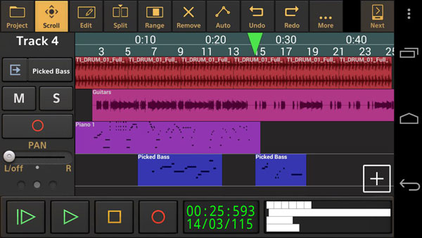 Audio Evolution Mobile DEMO دانلود Audio Evolution Mobile Studio v4.4.1 ویرایش موزیک اندروید