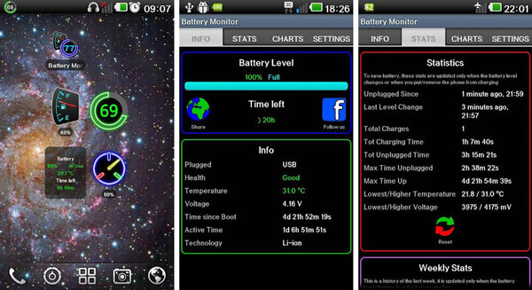 Battery Monitor Widget Pro دانلود Battery Monitor Widget Pro v1.4.1 ویجت حرفه ای باتری اندروید