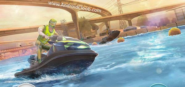 Boat Racing 3D Jetski Driver دانلود Boat Racing 3D: Jetski Driver & Water Simulator v1 بازی جت اسکی اندروید + مود