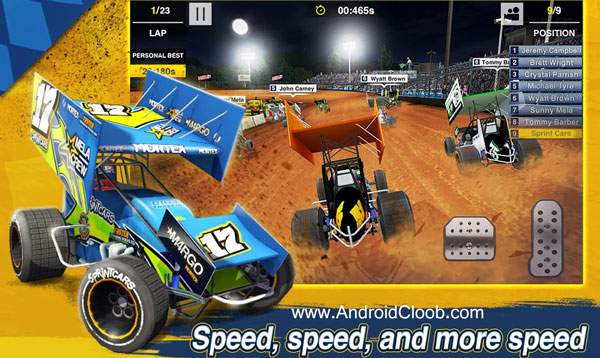 Dirt Trackin Sprint Cars دانلود Dirt Trackin Sprint Cars v1.0.4 بازی ماشین در خاکی اندروید + مود