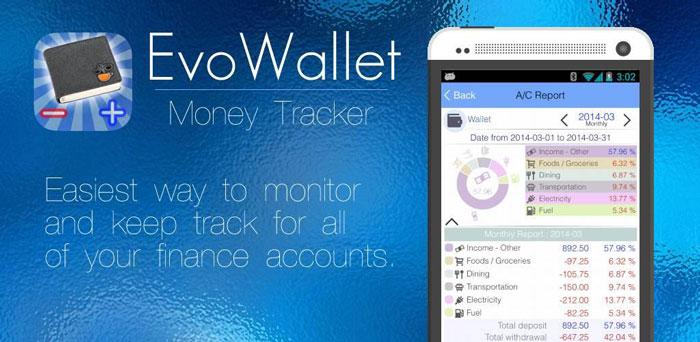 EvoWallet Money Tracker دانلود EvoWallet   Money Tracker v1.77 برنامه حساب مالی برای اندروید