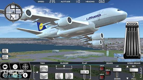 Flight Simulator FlyWings 2017 دانلود Flight Simulator FlyWings 2017 v3.5.5 بازی شبیه ساز پرواز اندروید