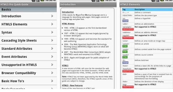 HTML5 Pro دانلود HTML5 Pro v1.10 آموزش کامل HTML5 اندروید