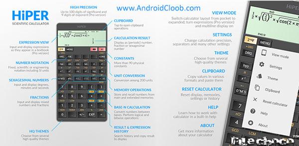 HiPER Calc Pro دانلود HiPER Calc Pro v5.0 ماشین حساب اندروید