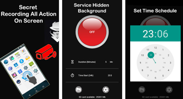 Hidden Screen Recorder دانلود Hidden Screen Recorder v1.93 فیلمبرداری مخفی از صفحه گوشی اندروید