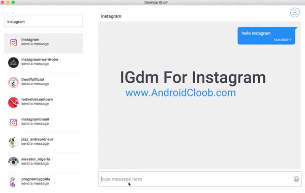 IGdm دانلود و نصب دایرکت اینستاگرام برای کامپیوتر ویندوز IGdm Pro