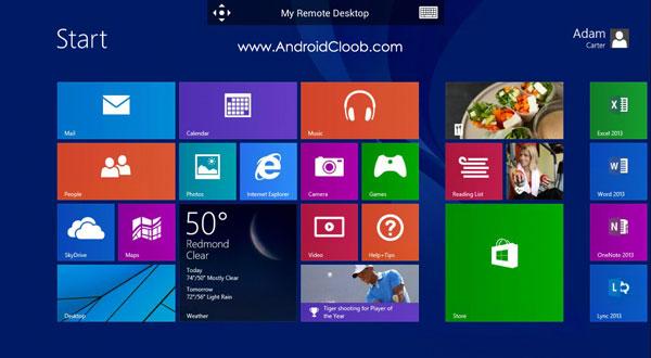 Microsoft Remote Desktop دانلود Microsoft Remote Desktop v8.1.54.288 برنامه وصل شدن به vps اندروید