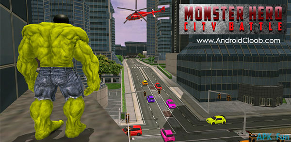 Monster Hero City Battle دانلود Monster Hero City Battle v1.1 بازی هالک اندروید