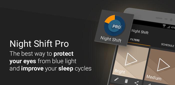 Night Shift Pro Blue Light Filter دانلود Night Shift Pro   Blue Light Filter, Night Mode فیلتر نور آبی اندروید
