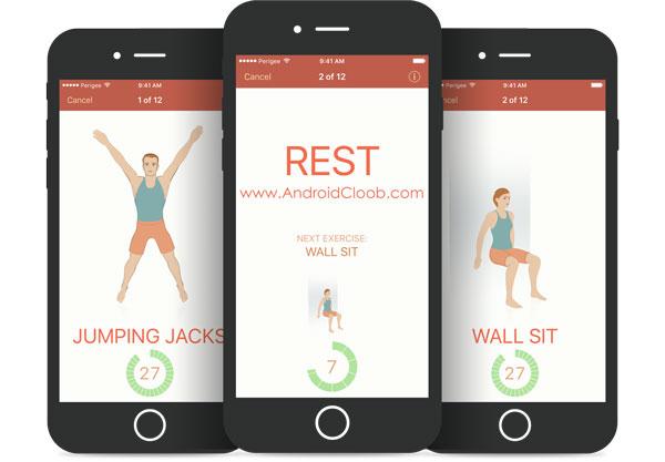 Seven 7 Minute Workout دانلود Seven – 7 Minute Workout v5.1.0 برنامه ورزش در 7 دقیقه اندروید + آنلاک