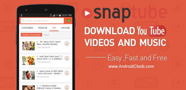 SnapTube دانلود SnapTube YouTube Downloader v4.35 Vip برنامه اسنپ تیوب اندروید