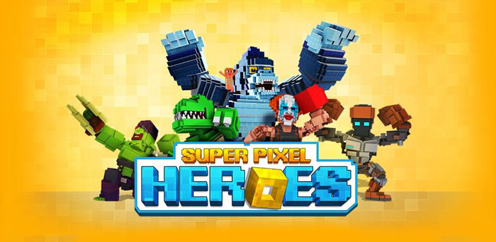 Super Pixel Heroes دانلود Super Pixel Heroes 2019 v1.2.170 بازی نبرد قهرمانان سلطنتی اندروید + مود