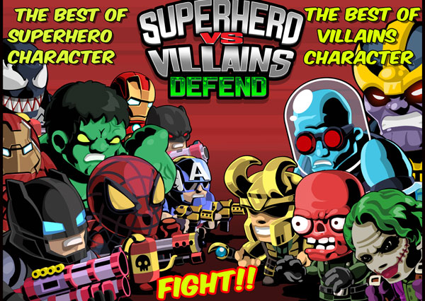 SuperHero VS Villains Defense دانلود SuperHero VS Villains Defense v1.1 بازی ابر قهرمانان اندروید + مود