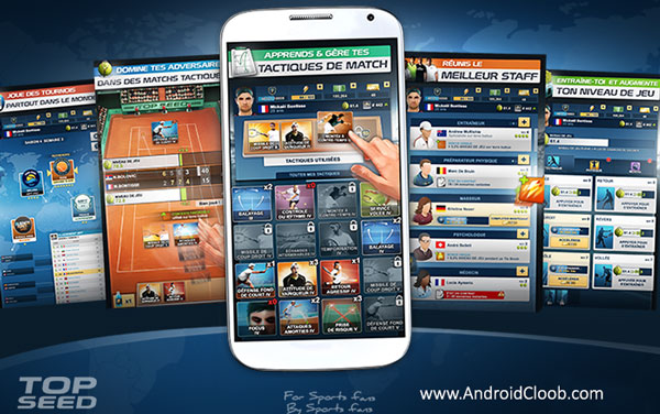 TOP SEED Tennis Manager دانلود TOP SEED   Tennis Manager v2.21.14 بازی مربی تنیس اندروید + مود