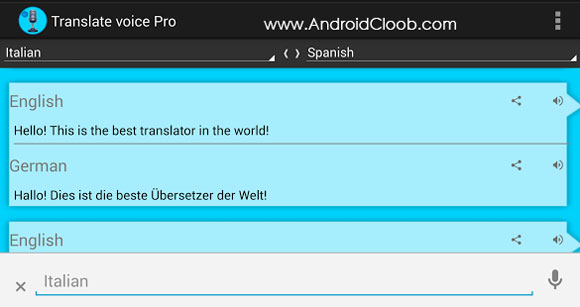 Translate voice دانلود Translate voice – Pro v10.3 برنامه مترجم صوتی اندروید