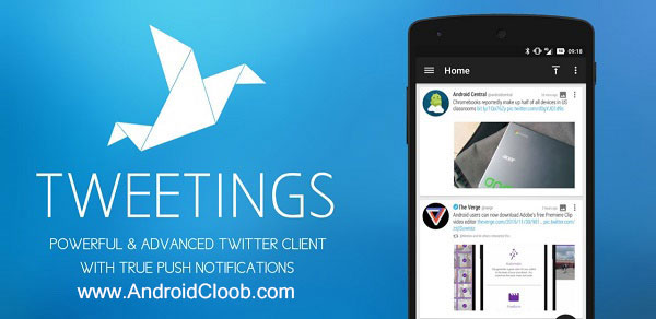 Tweetings for Twitter دانلود Tweetings for Twitter v11.5 برنامه کلاینت حرفه ای توییتر اندروید