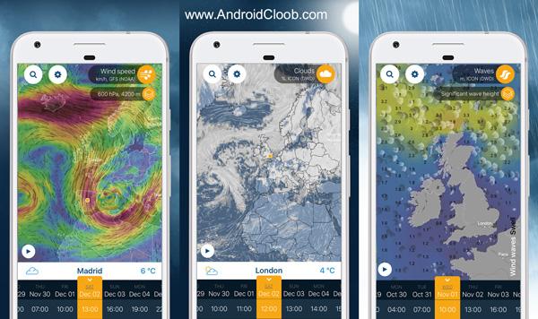 Ventusky Weather Maps دانلود Ventusky: Weather Maps v1.0.6 تصاویر ماهواره ای هواشناسی اندروید
